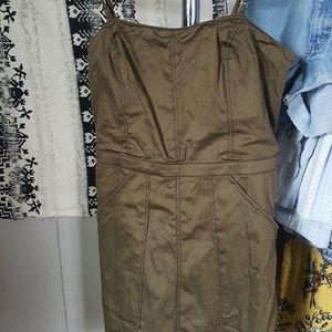 Olive Green Mini-dress